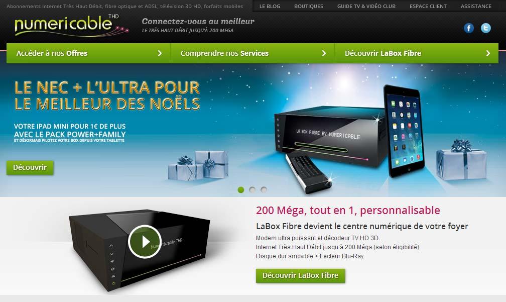 Numericable : la tablette iPad Mini pour 1€ en souscrivant à l'offre Power+Family Tablette