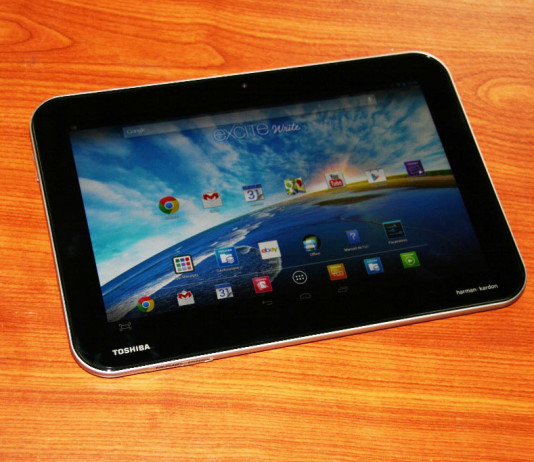 Test tablette Toshiba Excite Write 20