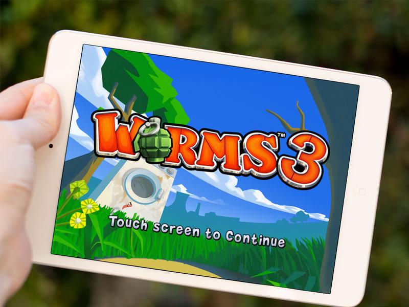 Test et avis de Worms 3 sur iPad