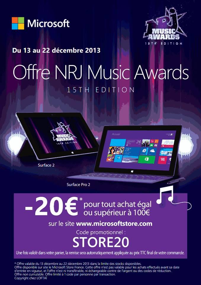 Code promo Microsoft : -20€ pour tout achat égal ou supérieur à 100€