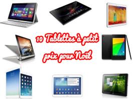 [Bon plan] Une sélection de 10 tablettes tactiles pas chères pour Noël 2013