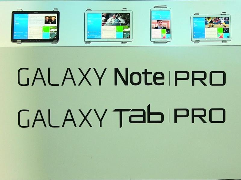 CES 2014 : Samsung lance sa nouvelle gamme de tablette Galaxy Tab Pro et Galaxy Note Pro