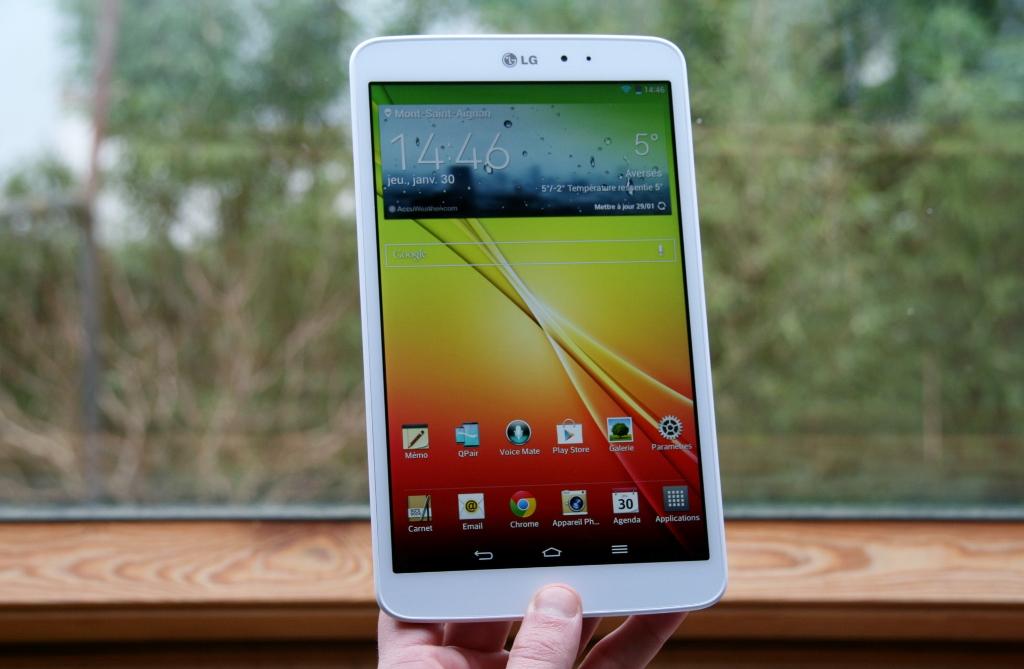 Test complet de la tablette LG G Pad 8.3