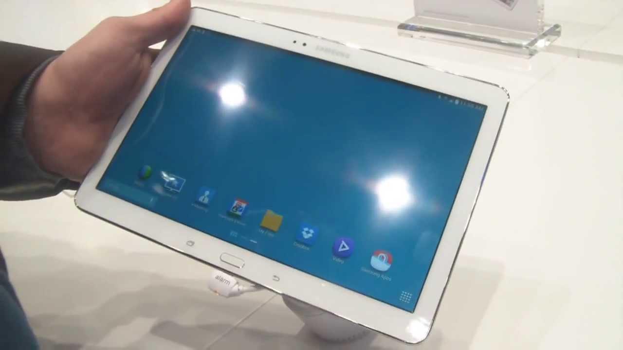 [MWC 2014] Vidéo de la tablette Samsung Galaxy Tab Pro 10.1