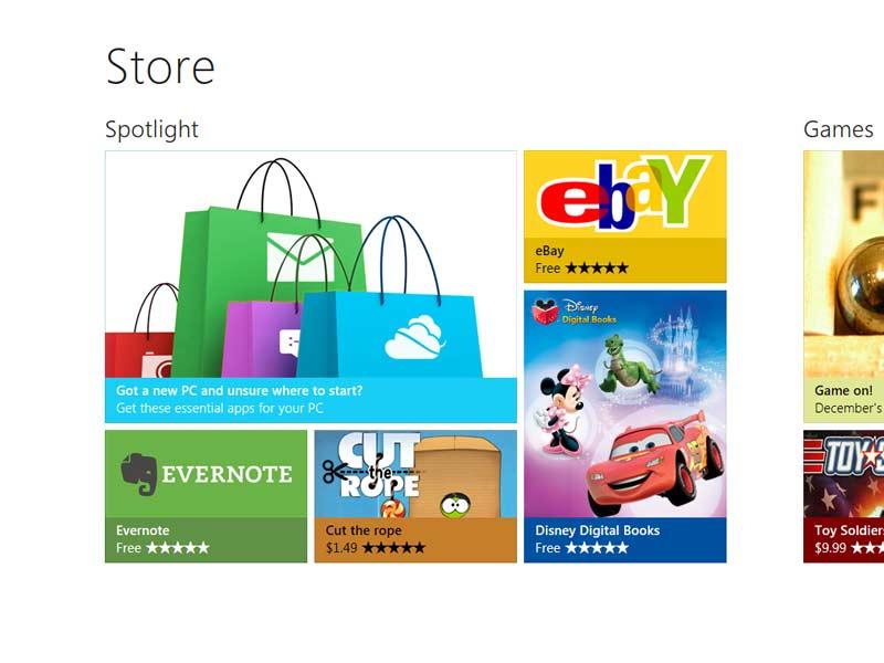 Mise à jour de Windows 8.1 : Les premières photos indiquent un seul «store»pour les applications