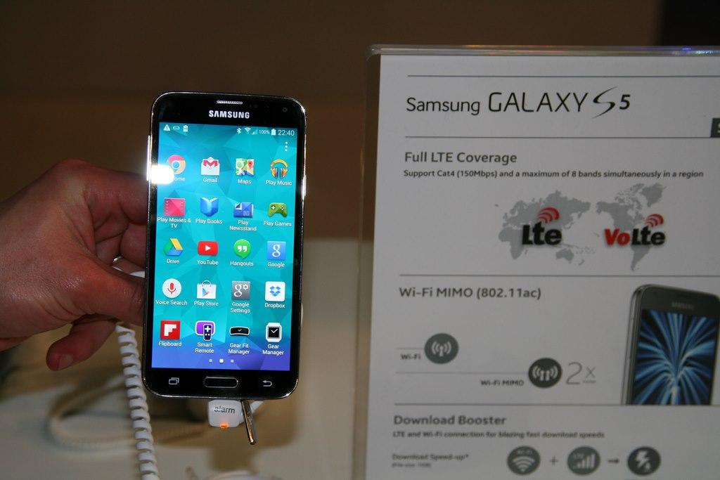 Samsung lance sa première publicité pour le Galaxy S5