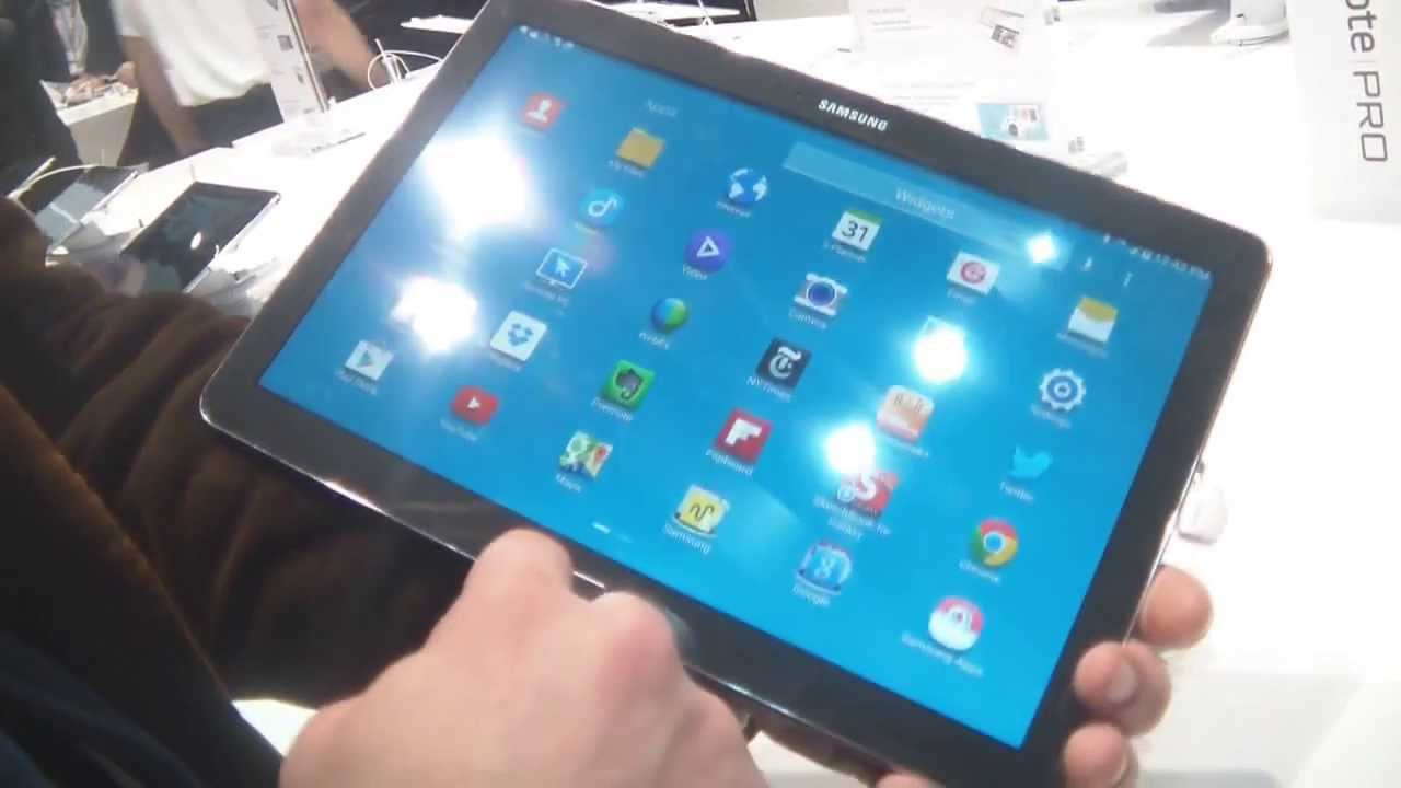 Mwc 2014 prise en main de la tablette samsung galaxy for Tablette samsung