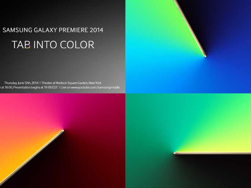 Les tablettes Samsung Galaxy Tab S seront présentées officiellement le 12 Juin à New-York