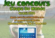 Grand jeu concours Coupe du monde Brazil 2014 ! Gagnez une Samsung Galaxy Tab 3 au format 10.1 pouces avec iLoveTablette.com 2