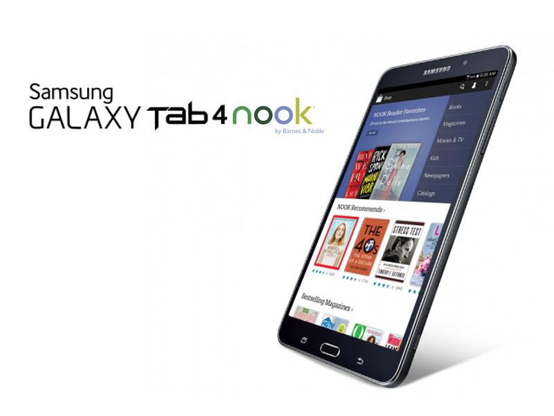 Barnes & Noble et Samsung s'associent pour proposer une tablette Galaxy Tab 4 Nook