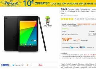 [Bon plan]La tablette Google Nexus 7 édition 2013 à 189€ chez Rue Du Commerce !  2