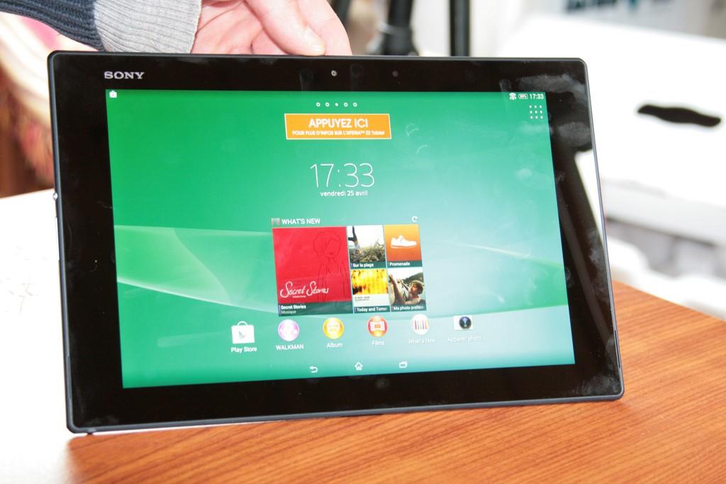 Test de la tablette Sony Xperia Tablet Z2