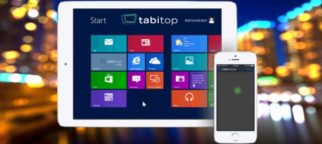 tabimouse et tabitob deux applications pour transformer votre ipad en tablette windows 8 1. Black Bedroom Furniture Sets. Home Design Ideas