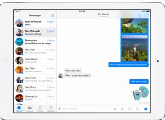 Facebook Messenger maintenant disponible sur iPad 5