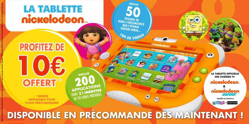 La Tablette Nickelodeon by Videojet : La tablette officielle des chaînes Nickelodeon 3