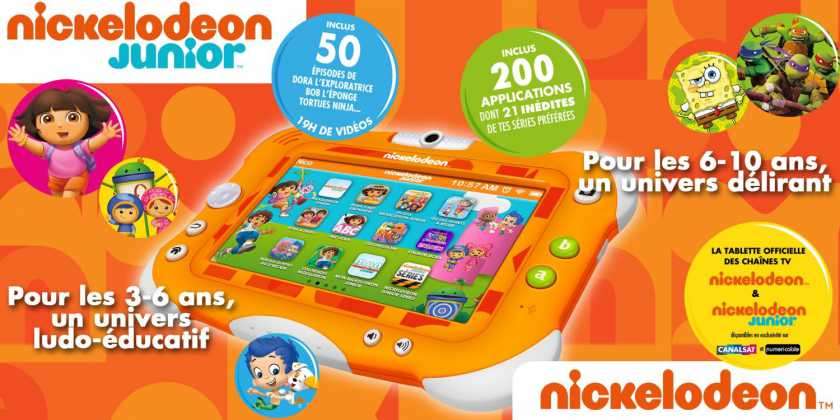 La Tablette Nickelodeon by Videojet : La tablette officielle des chaînes Nickelodeon 6