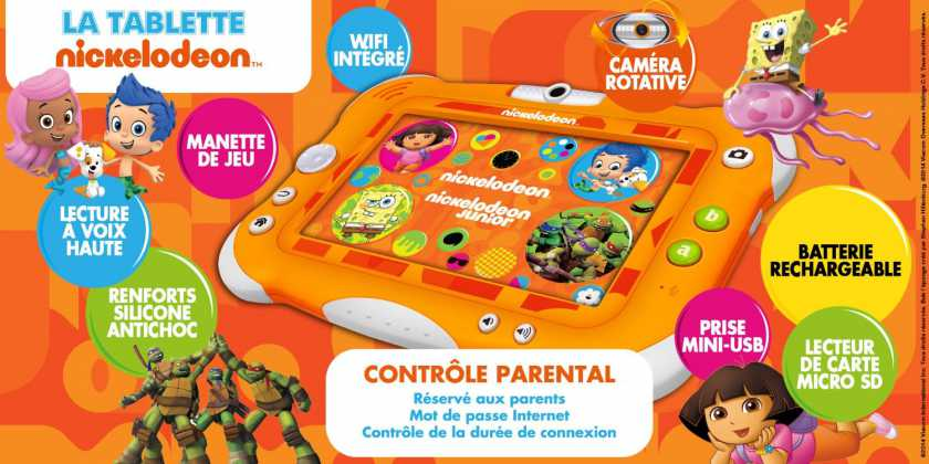La Tablette Nickelodeon by Videojet : La tablette officielle des chaînes Nickelodeon 7