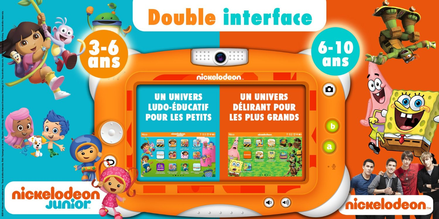 la tablette nickelodeon by videojet la tablette officielle des cha nes nickelodeon. Black Bedroom Furniture Sets. Home Design Ideas