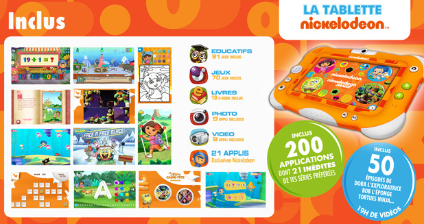 La Tablette Nickelodeon by Videojet : La tablette officielle des chaînes Nickelodeon 9