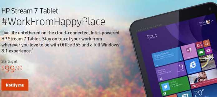 HP lance deux nouvelles tablettes Windows 8.1, les HP Steam 7 et 8  1