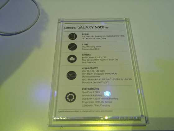Prise en main du Samsung Galaxy Note Edge 4