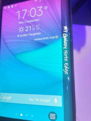 Prise en main du Samsung Galaxy Note Edge 13