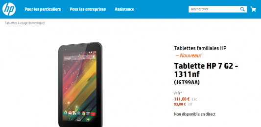 Une tablette HP 7 G2 low cost fait son apparition ! 1