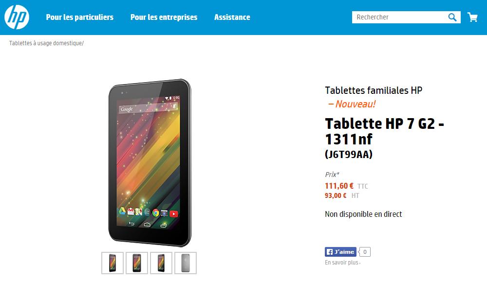 Une tablette HP 7 G2 low cost fait son apparition !