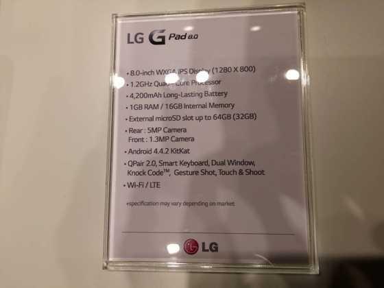 Prise en main : Tablettes LG G Pad Series (7, 8 et 10 pouces) 14
