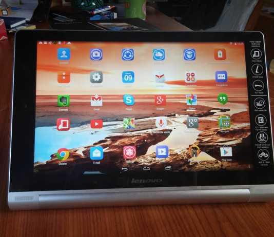 Test de la tablette Lenovo Yoga 10 HD+ 12