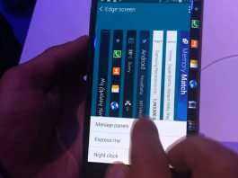 Prise en main du Samsung Galaxy Note Edge 1