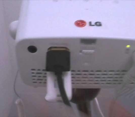 Prise en main du mini vidéoprojecteur HD LG Minibeam PH300  2