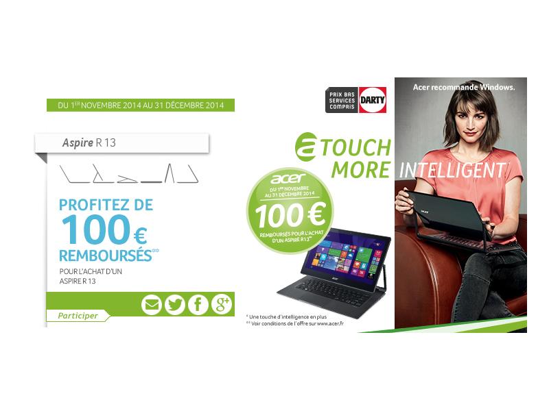 [Offre Spéciale] 100 euros remboursés pour l'achat d'un Aspire R 13