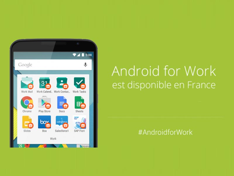 Android s'attaque au monde professionnel avec Android for Work