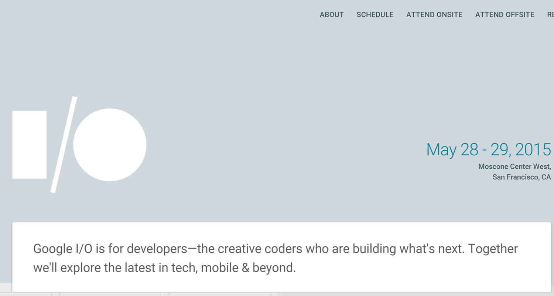 Conférence annuelle Google I/O, ce sera le 28 et 29 mai 2015