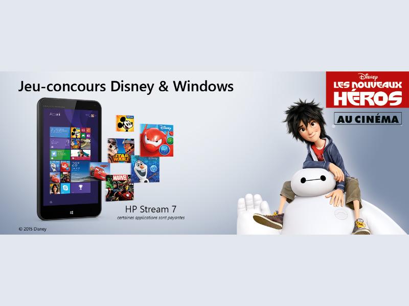 Les Nouveaux Héros : Concours pour gagner une tablette HP Stream 7