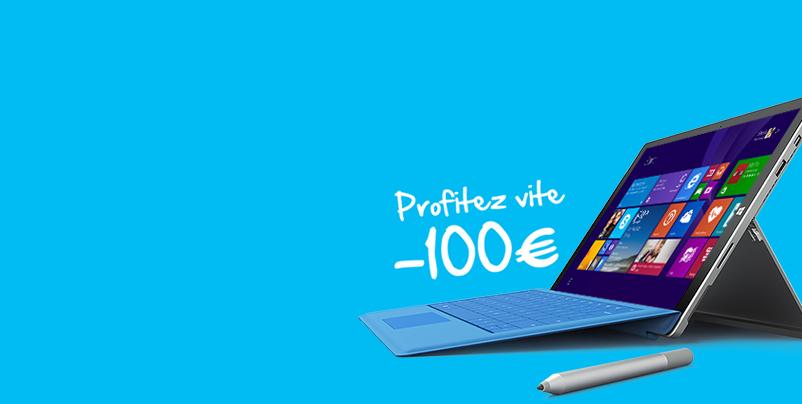Soldes Microsoft Surface Pro 3 : 100€ de réduction