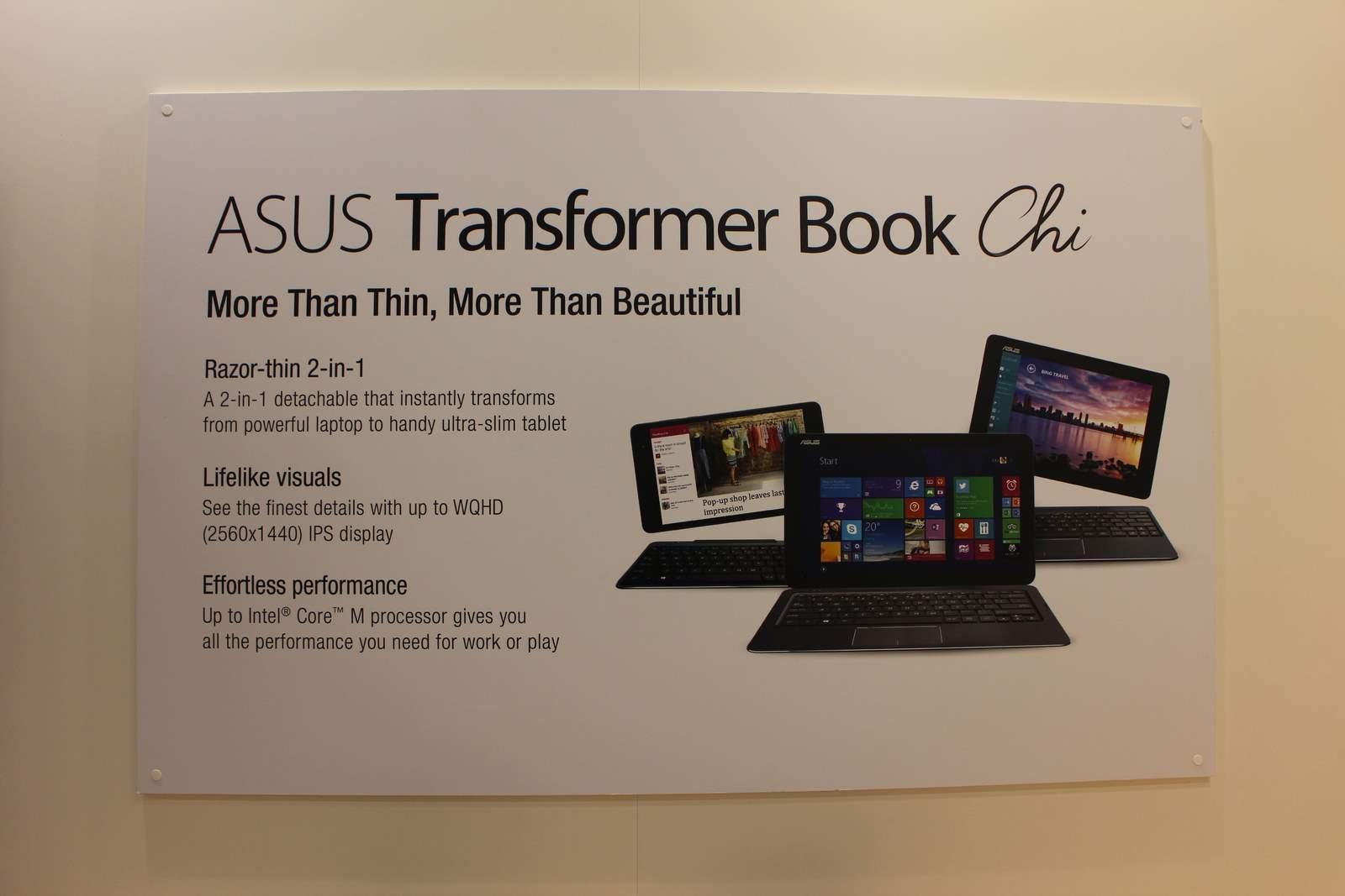 [MWC 2015] Asus Transformer Book Chi, 3 modèles transformables sous Windows 8.1