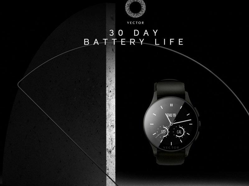 La smartwatch Vector propose une autonomie d'un mois !