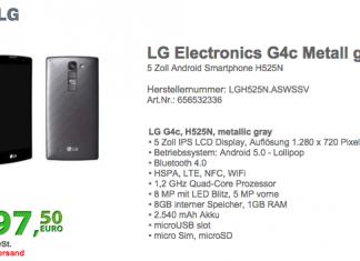 LG G4c : déjà une déclinaison du dernier flagship ? 1