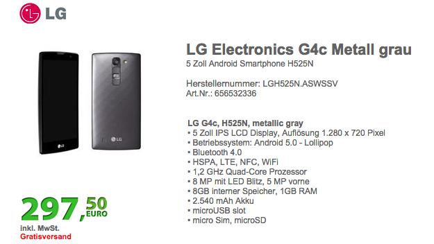 LG G4c : déjà une déclinaison du dernier flagship ?