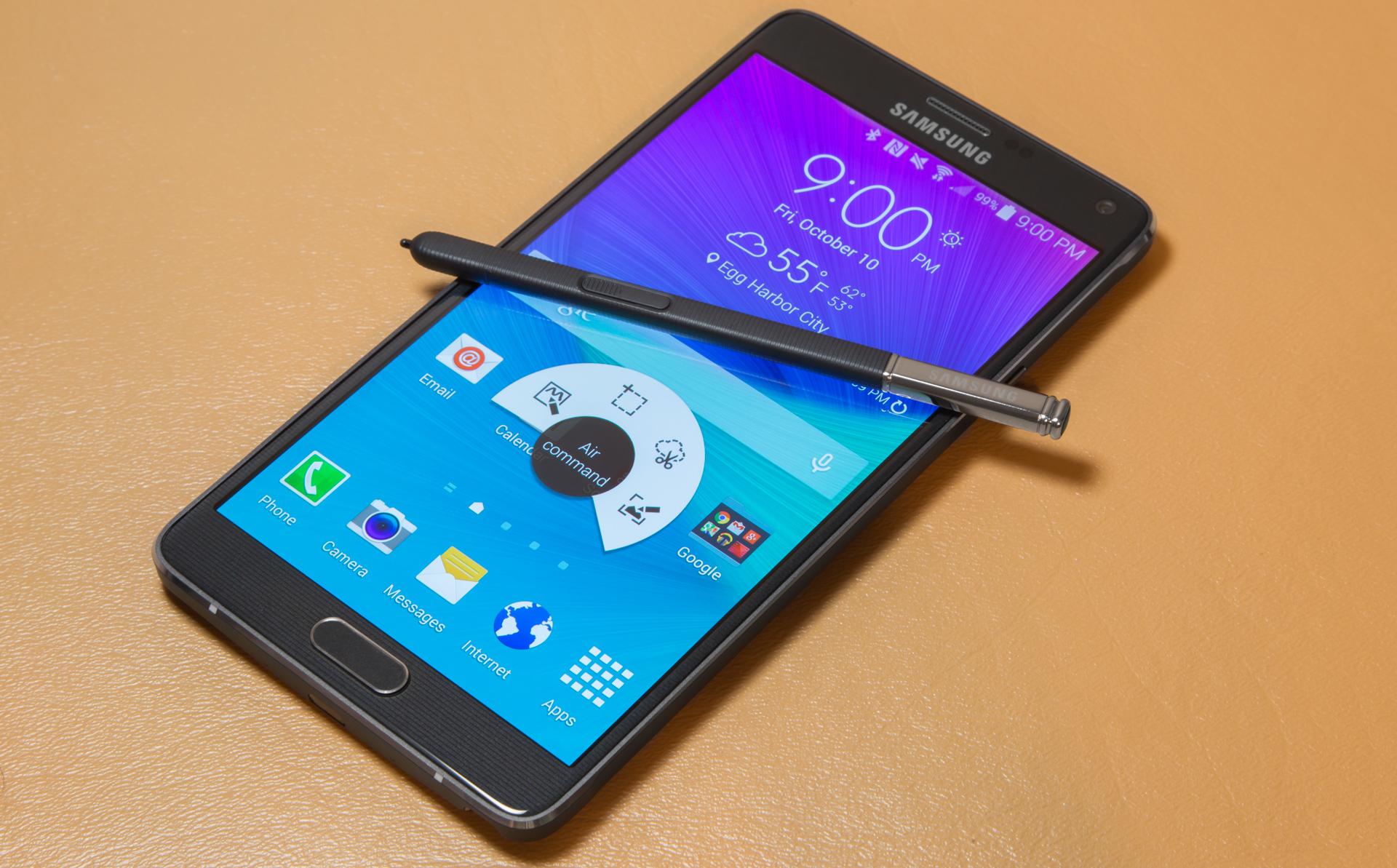 Samsung Galaxy Note 4 : mise à jour Android 5.1.1 pour juillet