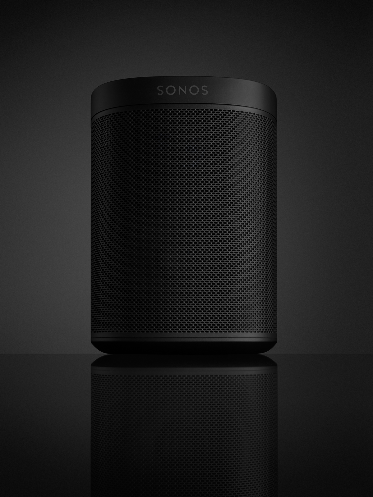 enceinte sonos play 1 tone couleur noir. Black Bedroom Furniture Sets. Home Design Ideas