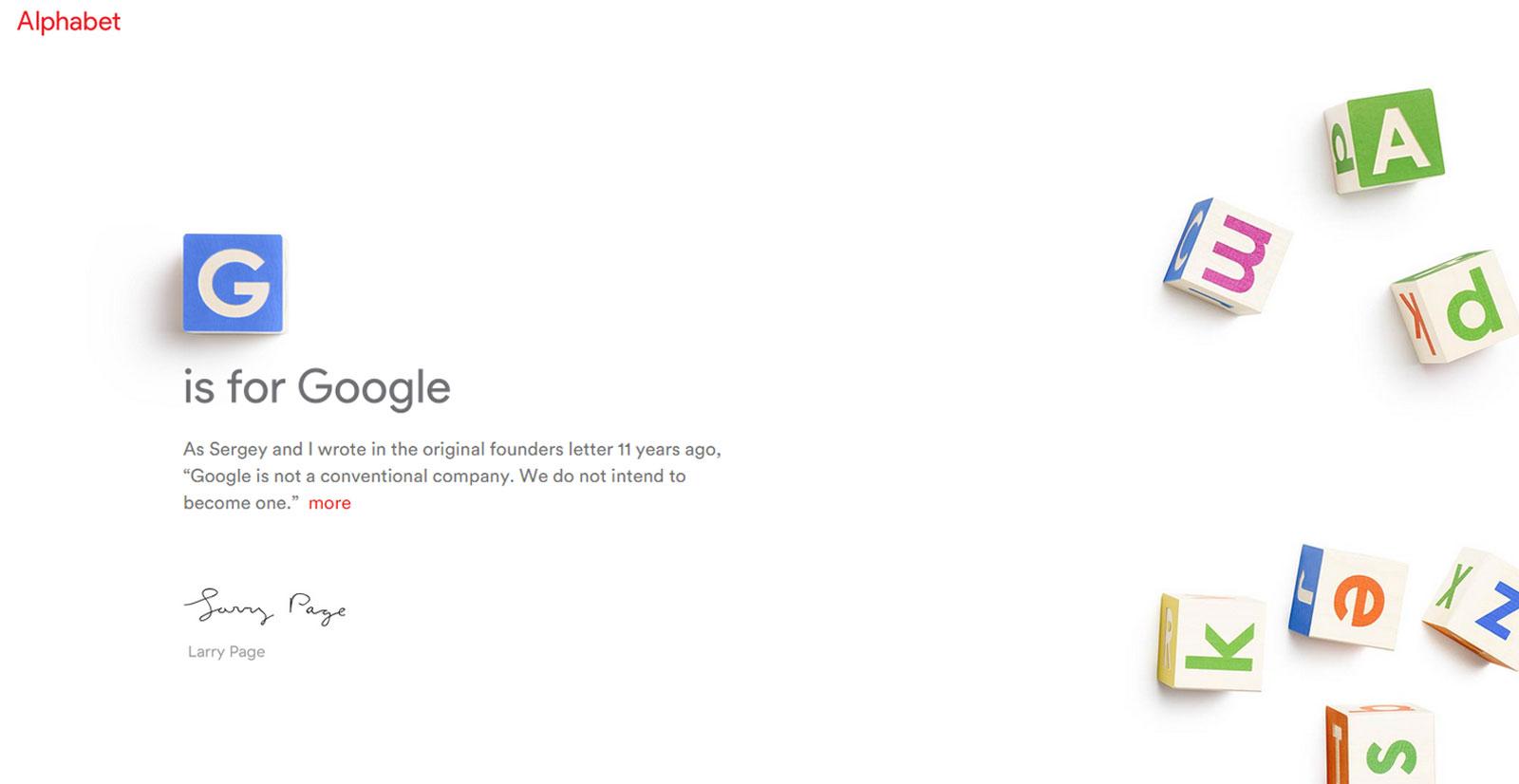 «G pour Google»: une annonce remarquée d'Alphabet