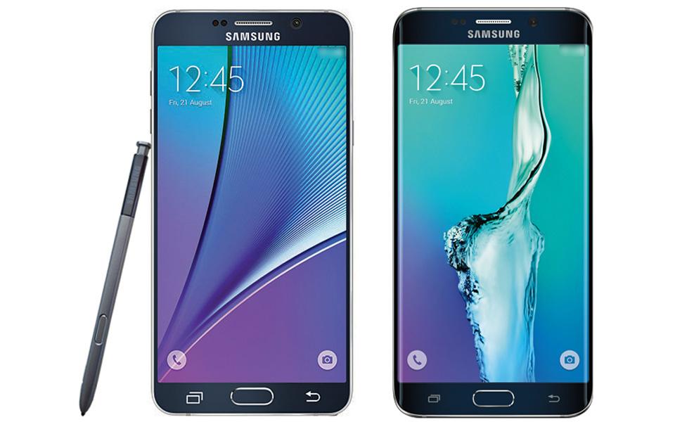 Les photos officielles du Samsung Galaxy Note 5 et Galaxy S6 Edge+