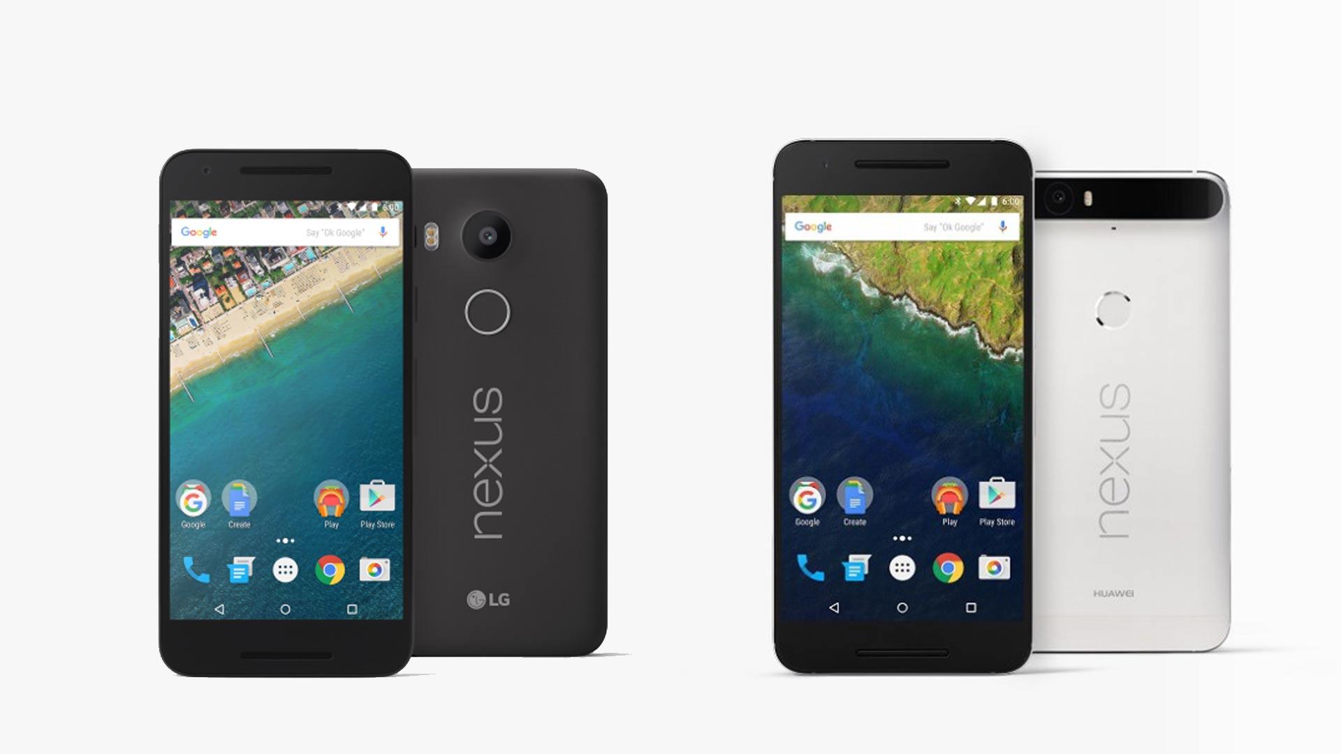 Google dévoile les Nexus 5X et Nexus 6P
