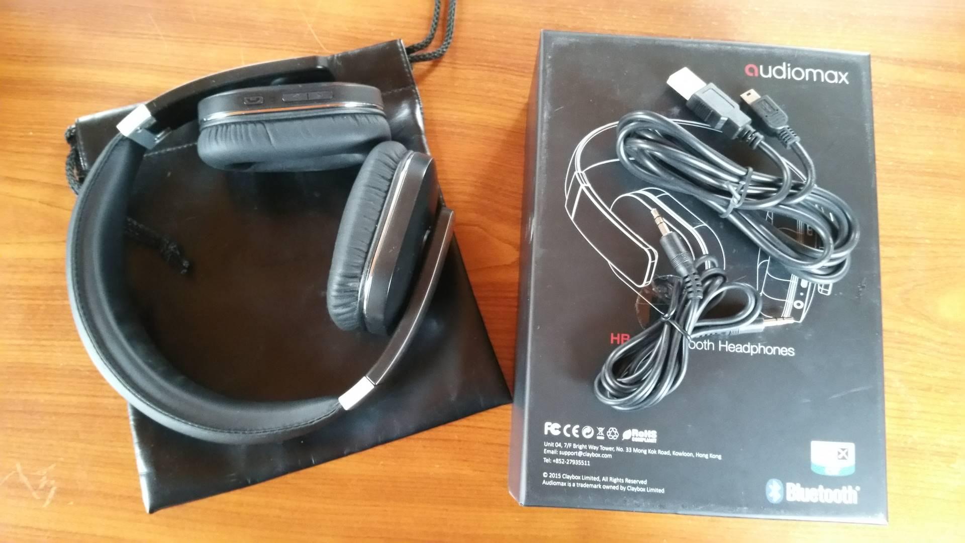 Test casque audiomax déballage