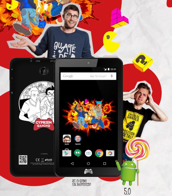 Thomson décline une tablette en édition limitée à l'effigie de «Cyprien Gaming»
