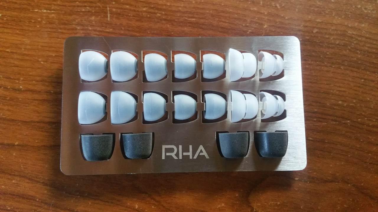 Test et avis écouteurs intra auriculaire RHA 750i embouts