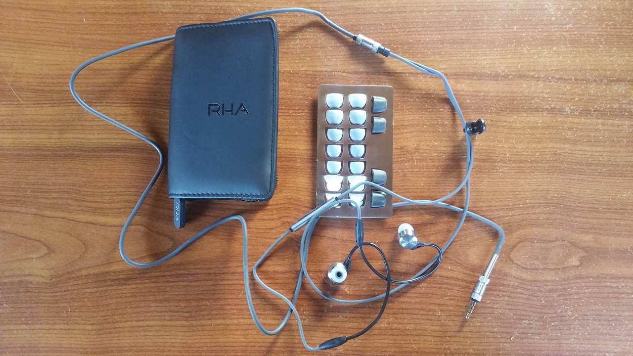 Test et avis écouteurs intra auriculaire RHA 750i. detail